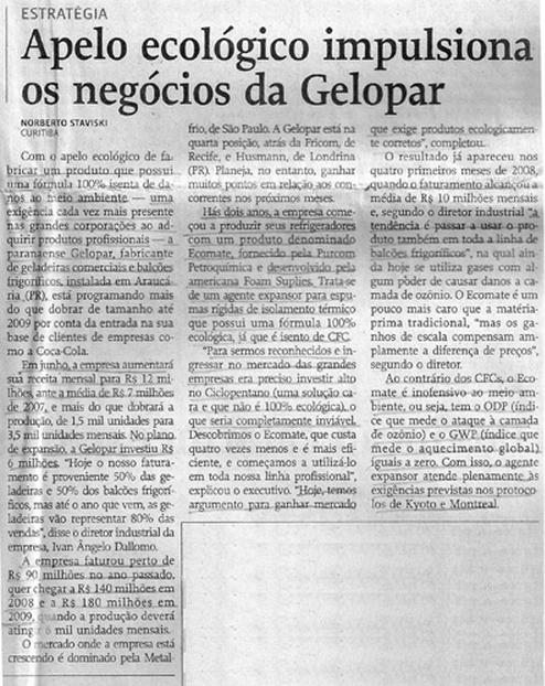 Gazeta Mercantil / Ecomate impulsiona os negócios dos clientes