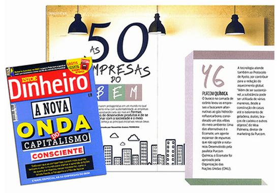 Revista Isto É Dinheiro / As 50 empresas do bem