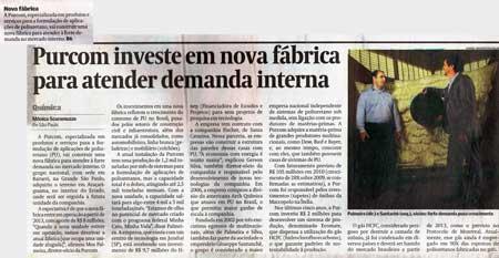 Valor Econômico / Purcom investe em nova fábrica